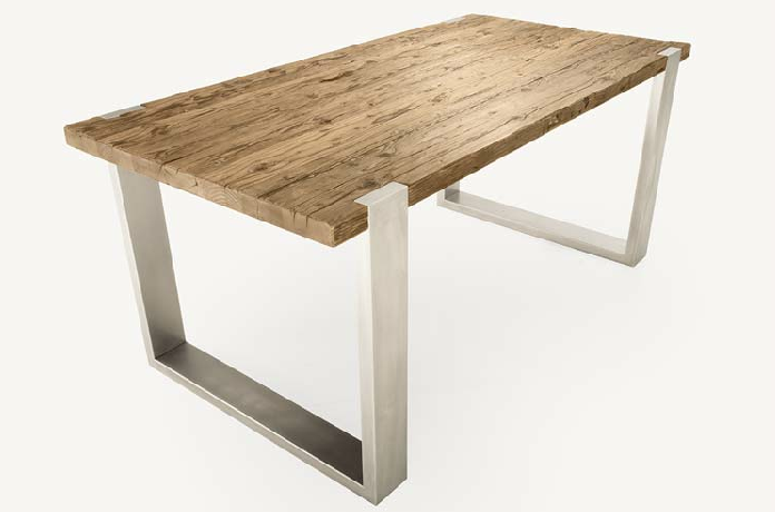 Seaseight design blog design raw wood table for Tavolo legno e acciaio