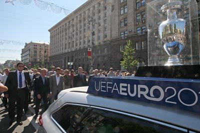 Фото Укринформ:кубок УЕФА в Киеве