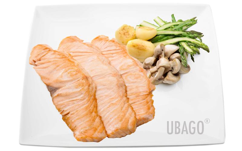 Filetes de salm n con patatas champi ones y esp rragos - Salmon con champinones ...