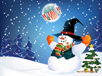 Frosty junto a la nieve wallpaper