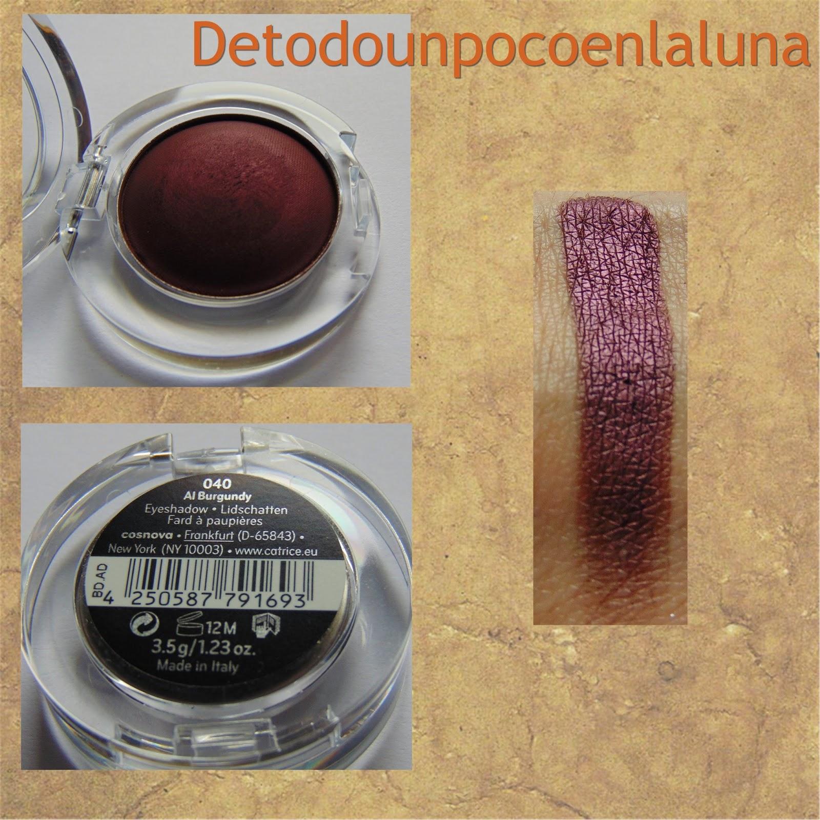 040 Al Burgundy Sombras Velvet Matt Eyeshadow de Catrice