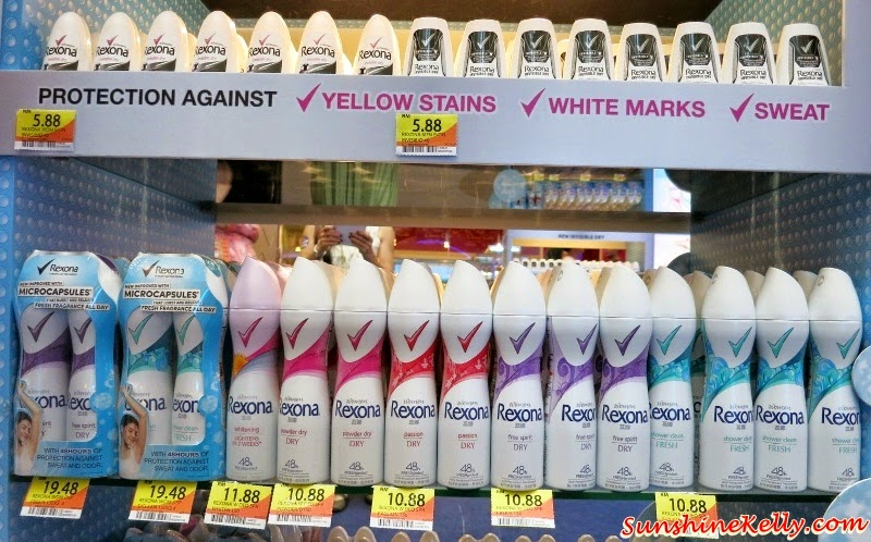 Rexona Spray for Women, Freshprotect, Rexona Spray for Women Launch, Rexona Freshness Challenge, Rexona, Deodorant, Sunway Pyramid, Rexona Invisible Dry for Men Women,, Power Dry, Free Spirit, Whitening, Shower Clean, Passion