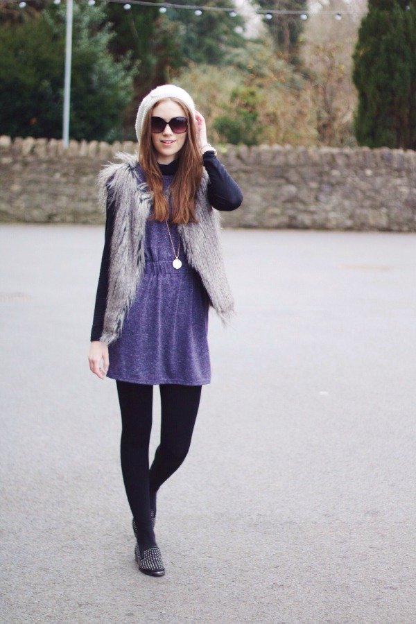 tunic dress & polo neck