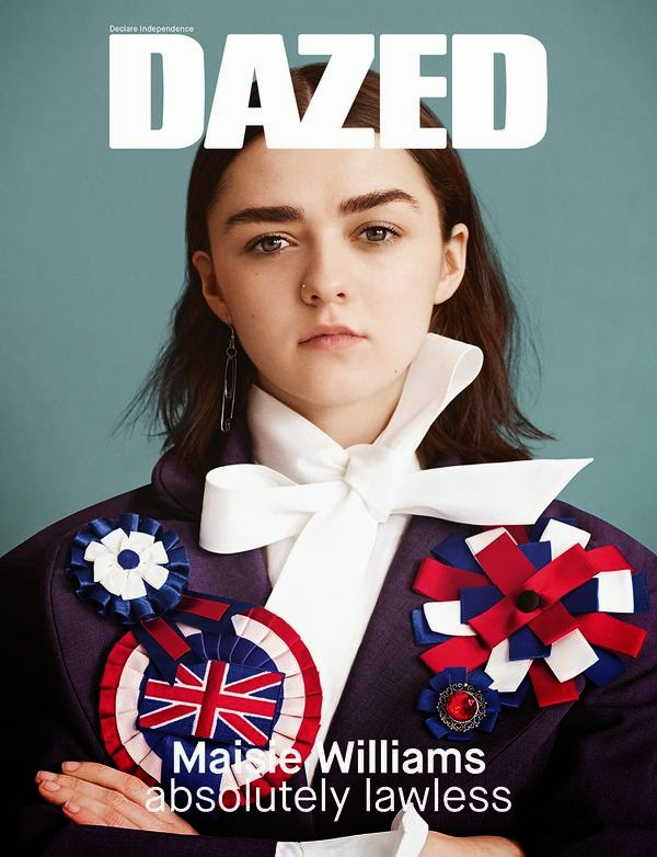 Actress @ Maisie Williams by Ben Toms for Dazed Spring/Summer 2015