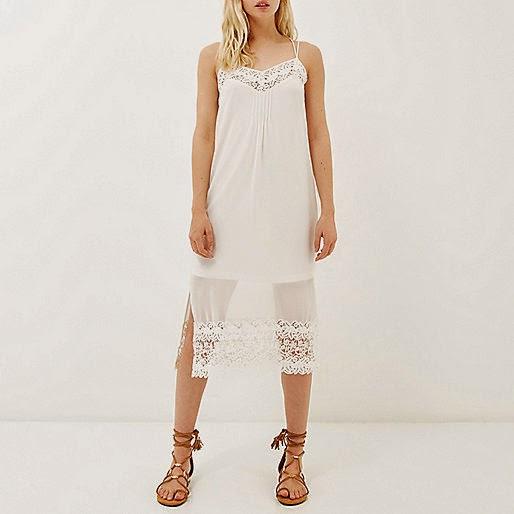 white strappy dress, white dress river island,