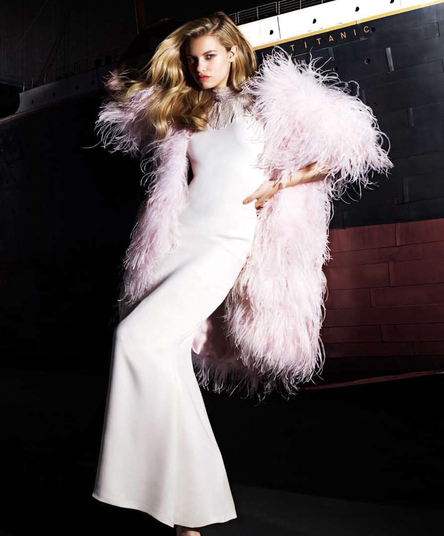 Hailey Clauson in US Harper's Bazaar May 2012 by Rankin