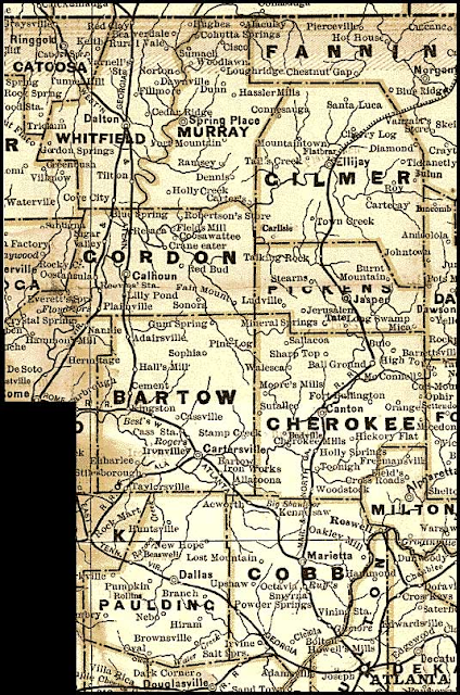 Cram Map of Georgia, 1883