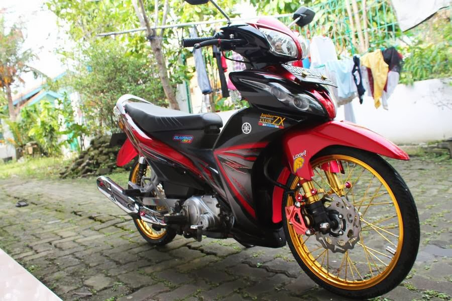 Modifikasi Motor Jupiter mx 2010 Modifikasi New Jupiter mx Ungu