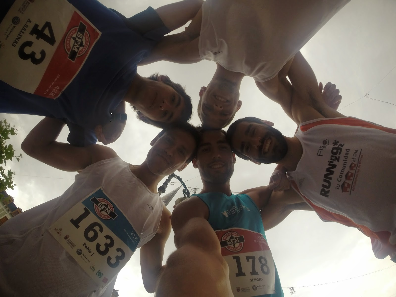 equipo runners san fermin maraton pamplona 2014