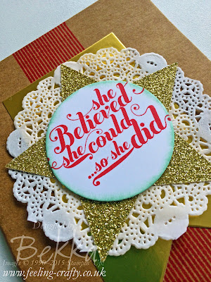 Decorated Notebook using Stampin' Up! UK Products - check it out here