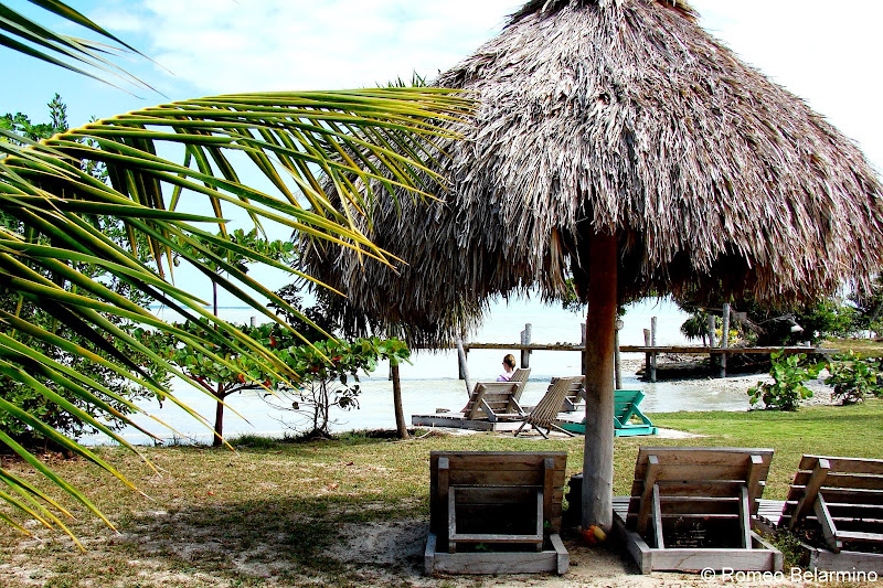 Lounging by Corozal Bay at Cerros Beach Resort Belize
