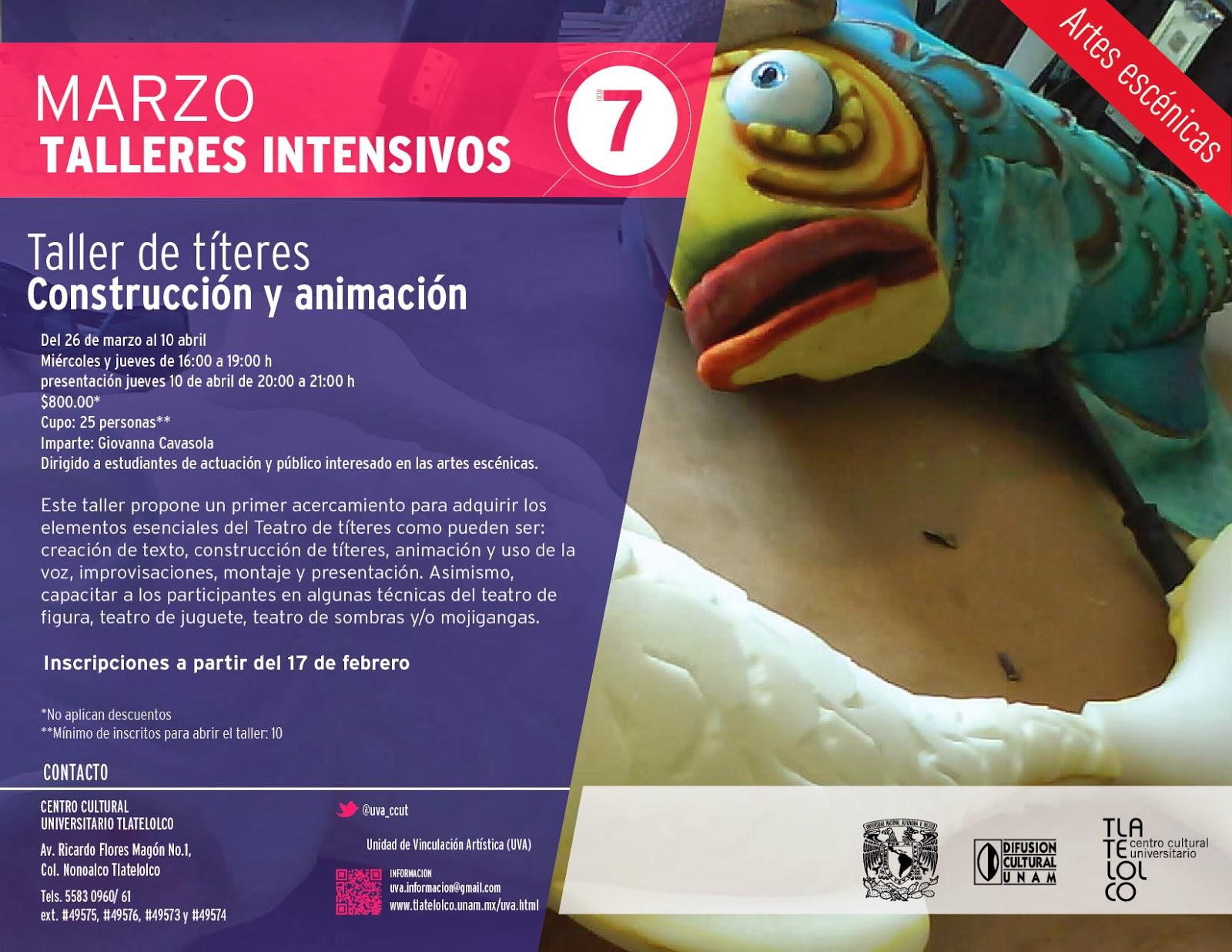 Curso intensivo sobre Teatro de títeres en el CCUT