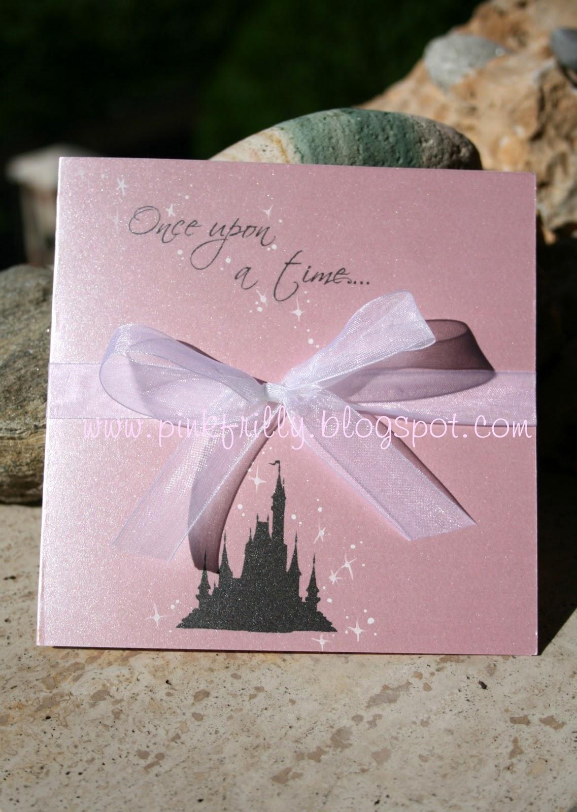 Tema Matrimonio C Era Una Volta : Pink frilly partecipazione favola