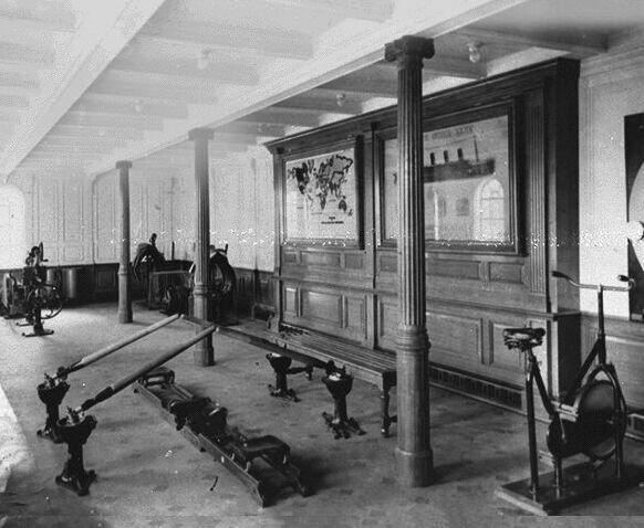 Documentary Photographs of Titanic: 1st Class Gymnasium