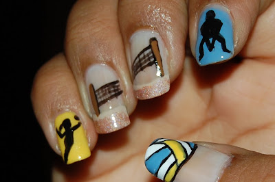 volleyball nail art