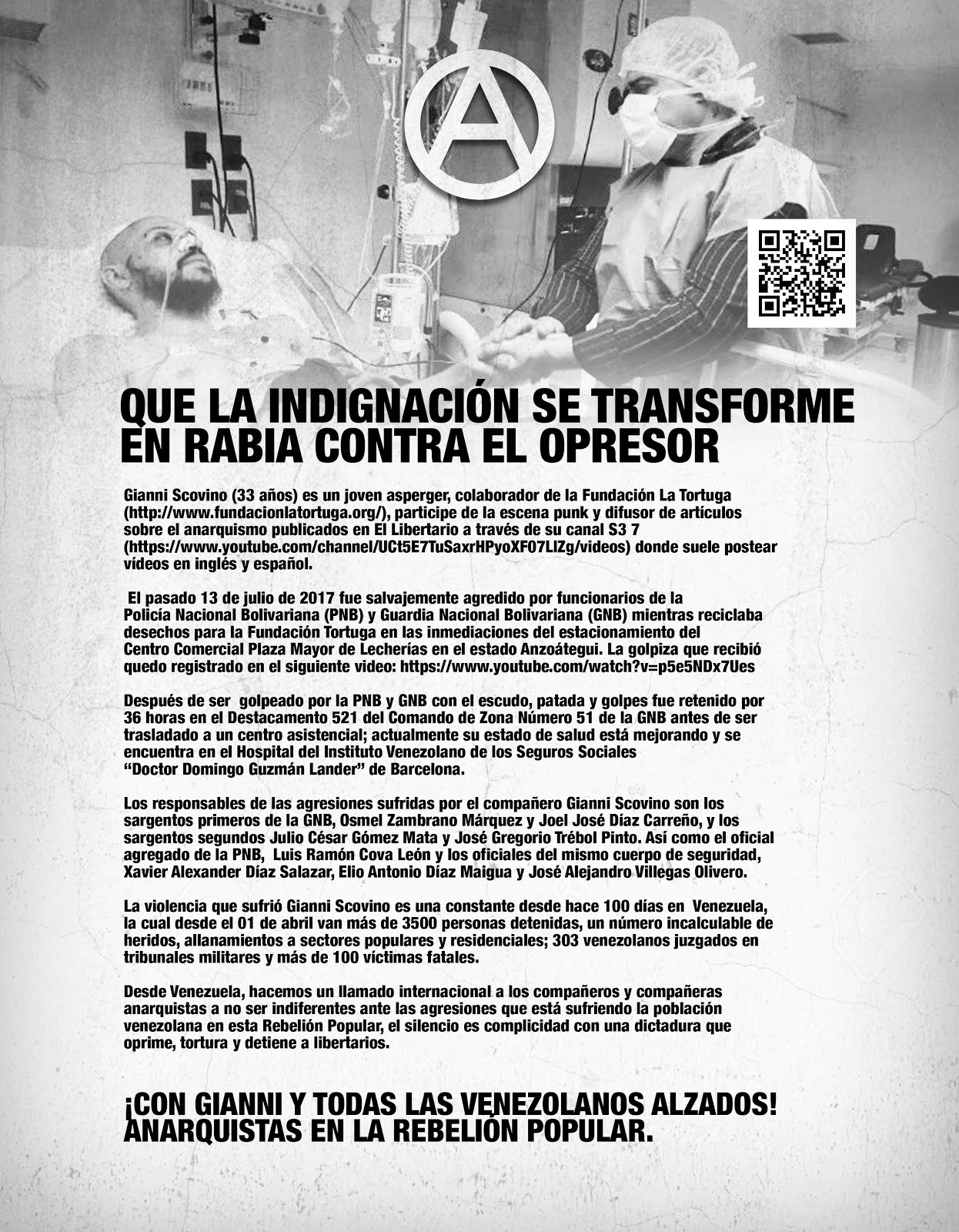 Solidaridad con Gianni Scovino