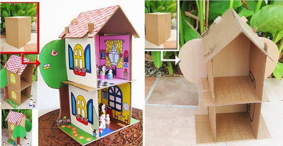 Mobili Per Casa Delle Bambole Fai Da Te : Casetta per le bambole fai da te la casa delle idee