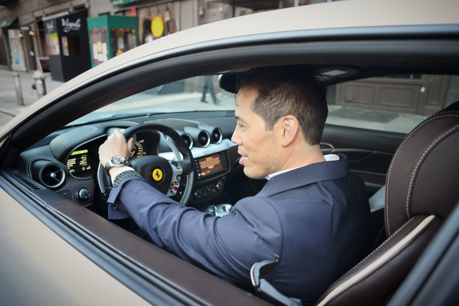 Inson Wood in the latest Ferrari FF - A four wheel drive powerhouse as comfortable on the formula one track as it is on the trails to your back woods cliff ...
