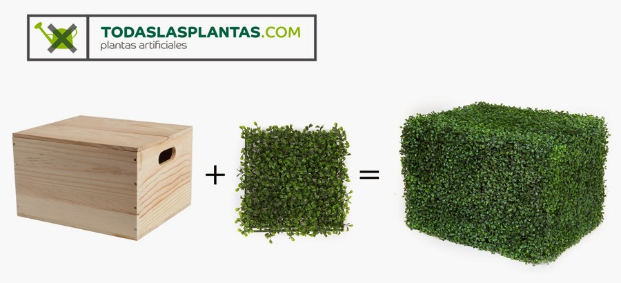 Decoraci n con plantas artificiales jardin vertical - Plantas para vallas ...