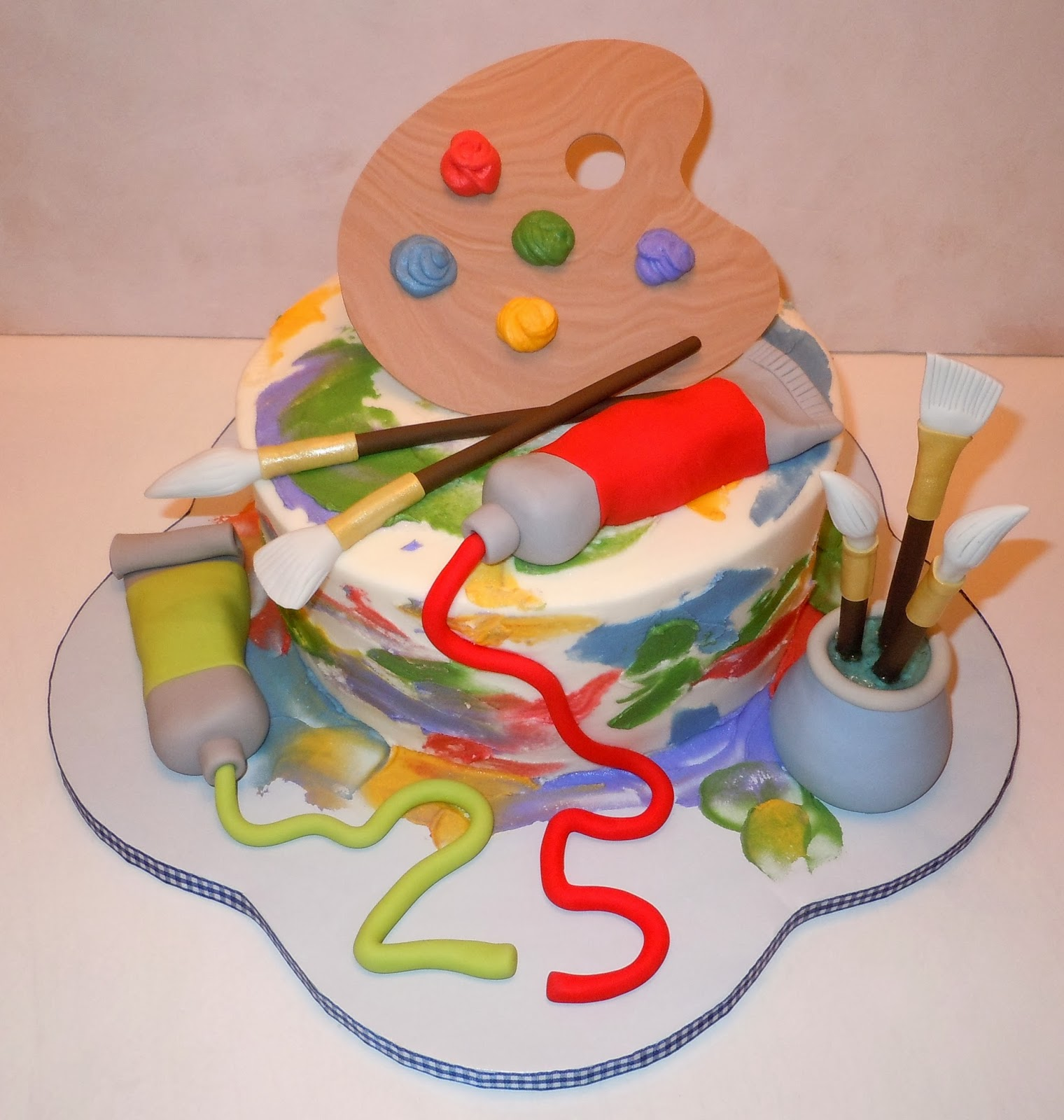 Cake Ideas For Artist : art party on Pinterest Art Birthday Parties, Rainbow Art ...