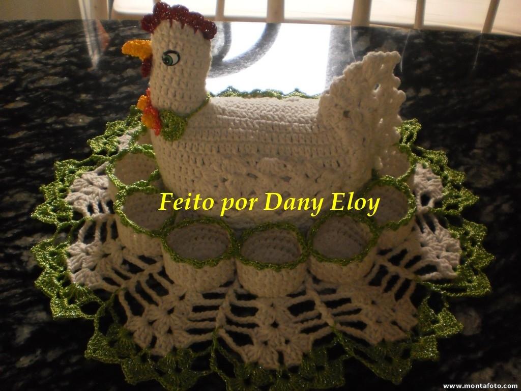 dany eloy croch galinha porta ovos de croche. Black Bedroom Furniture Sets. Home Design Ideas