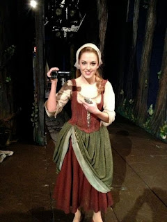Laura Osnes filming The Princess Diary for Broadway.com
