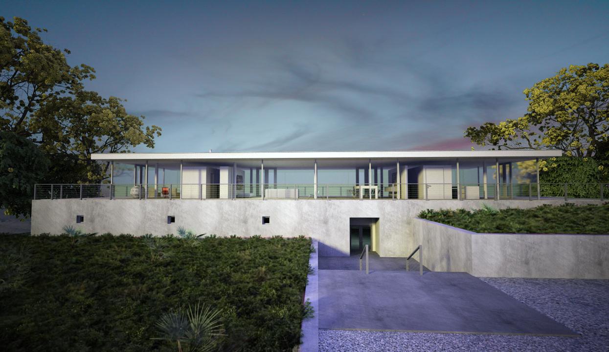 Exterior casa olnick arq alberto campo baeza ultimate - Campo baeza obras ...