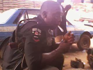 nigerian police smoking weed
