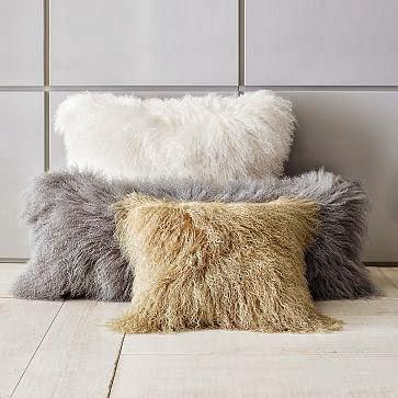 West elm mongolian pillow