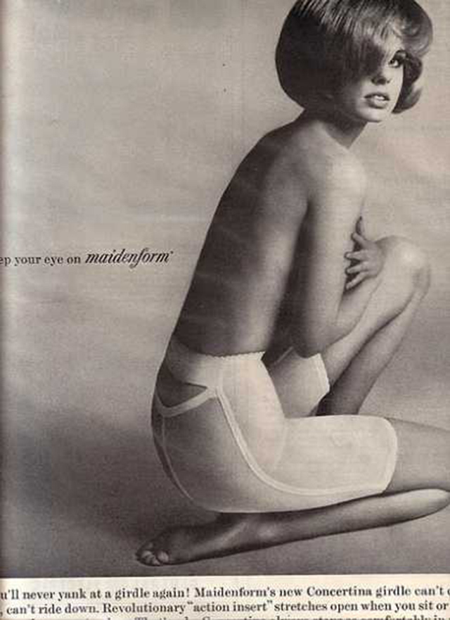 1960s advertisement for maidenform girdle