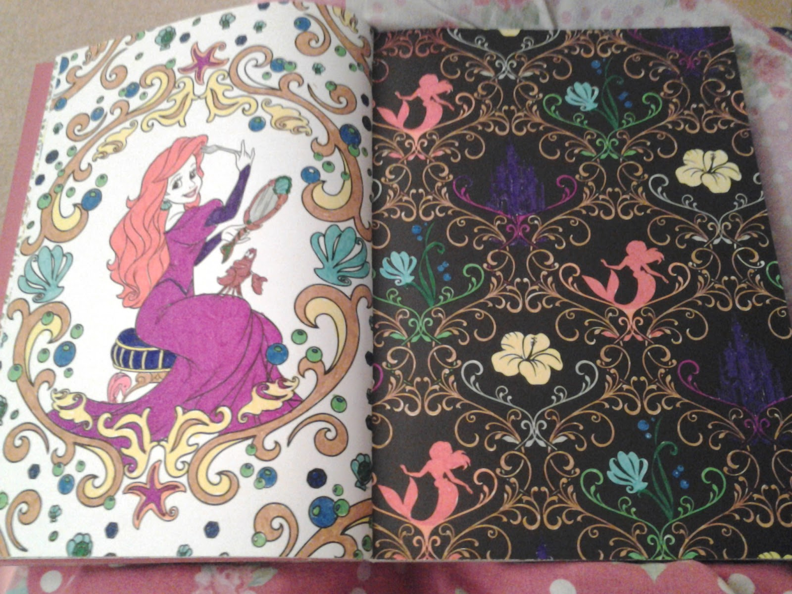 Since I Watched Disneys The Little Mermaid This Weekend It Was Appropriate That Finished Colouring These Pages