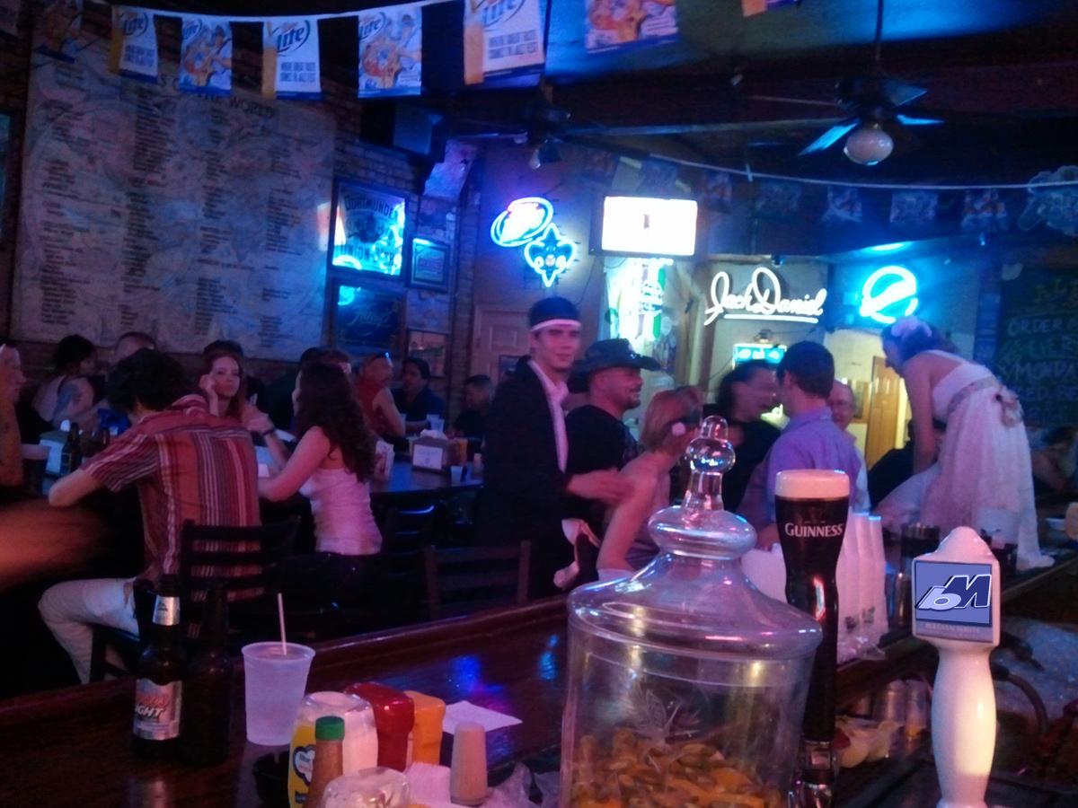 bride on bar - dude staring at