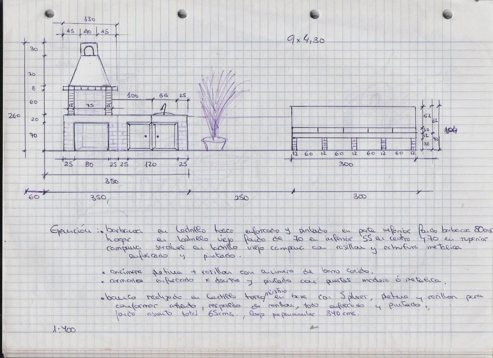 Mi primer blog brico construcci n 1 - Planos barbacoas de obra ...