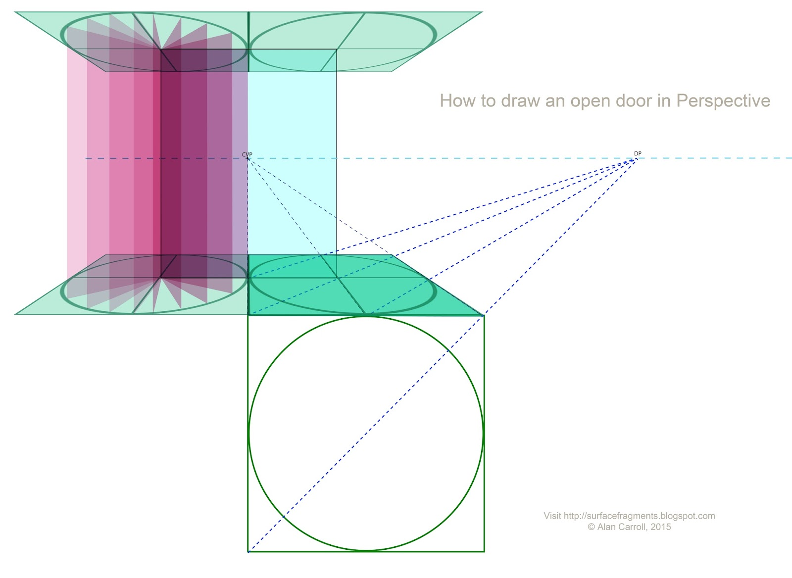 Open door drawing perspective - Shut That Door How To Paint Doors In Perspective