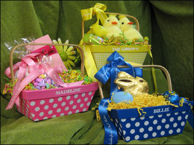 Healthier easter baskets fashion meets food puzzles small toys stuffed bunnies stickers magnets disposable camera packet of seeds and gardening tools plastic eggs filled with coins or negle Choice Image