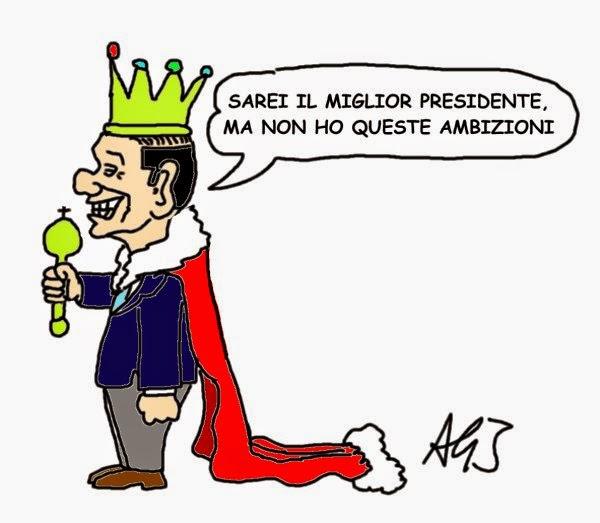 Berlusconi, presidente della repubblica, satira