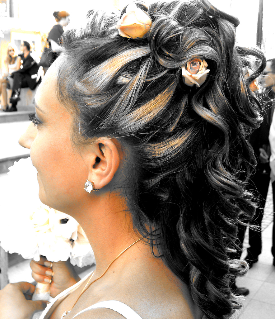 Bridal Hair Style - In Perfect Combination With The Bridal Dress