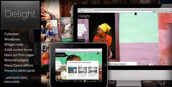 Delight Fullscreen Wordpress Portfolio Theme Version 4.0.15 free
