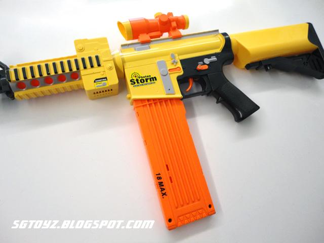 Nerf N Strike Stede Ecs Shield Bipod 35 Shot Drum 4 Clips Dart Blaster