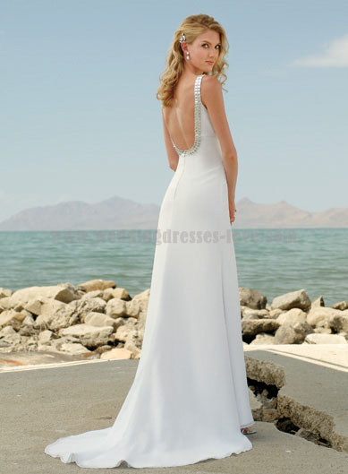 Elegant wedding dress with open back - Wedding Dress