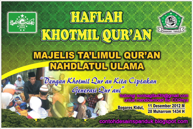 Background panggung Khotmil Qur'an 1434 H