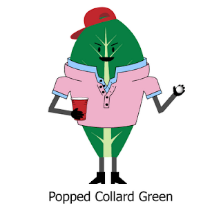Popped Collard Green