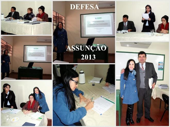 DEFESA DE MESTRADO EM ASSUNÇÃO - JULHO 2013