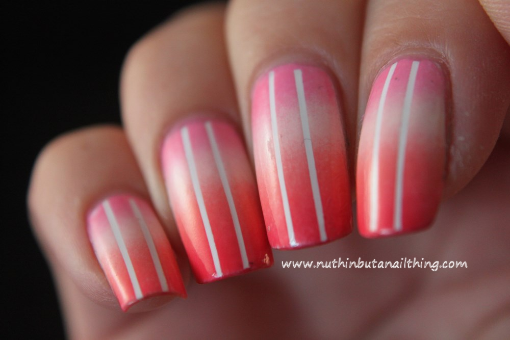 then sponged over some pinks, white and coral colours. So pretty