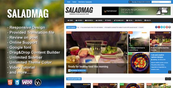 download SaladMag v1.7 - Responsive WordPress Magazine Theme