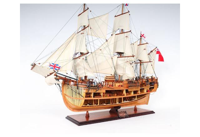 HMS Endeavour Open Hull Model