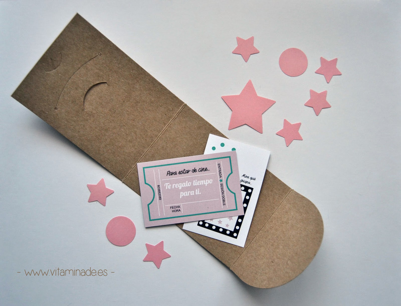 tarjetas regalo sobre selfpackaging