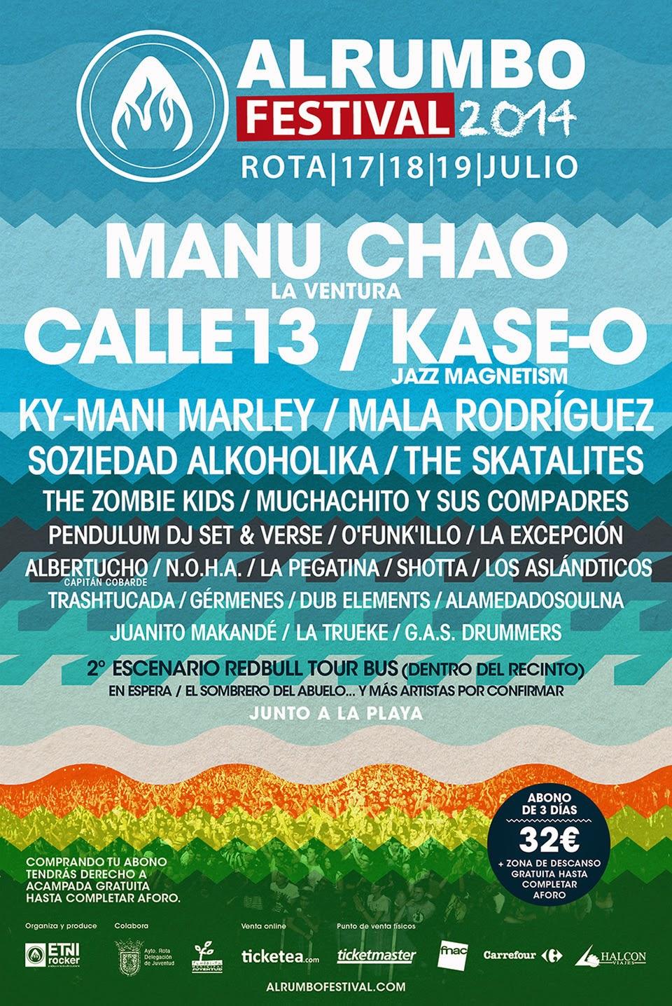Al Rumbo, Festival, 2014, cartel