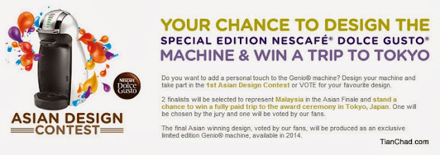It's your chance to design the special edition NESCAFE Dolce Gusto Machine & Win A Trip to Tokyo