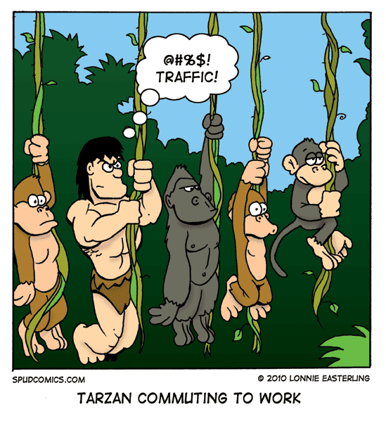 Tarzan, comic, work commute